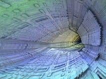 Donker hol - abstract digitaal geproduceerd beeld Royalty-vrije Stock Foto