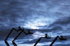 Donker industrieel landschap royalty-vrije stock afbeeldingen