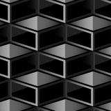 Donker kubus geometrisch naadloos patroon Stock Foto's