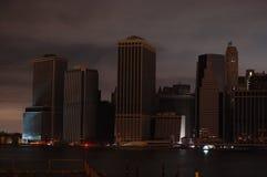 Donker Manhattan royalty-vrije stock fotografie