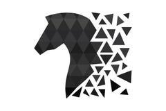 Donker paardsilhouet met veelhoeken royalty-vrije illustratie
