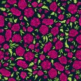 Donker Patroon met Abstracte Bloemen Royalty-vrije Stock Afbeelding
