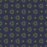 Donker patroon met gouden ornamenten Stock Afbeeldingen