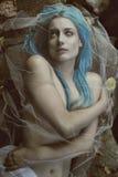 Donker portret van vampiervrouw royalty-vrije stock afbeelding