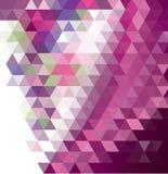 Donker purper, roze abstract mozaïekpatroon Kleurrijke abstracte illustratie met gradiënt Stock Fotografie