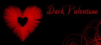 Donker Valentine stock illustratie