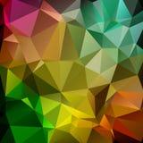 Donker Veelkleurig vectordriehoeksontwerp als achtergrond Driehoekige A royalty-vrije illustratie