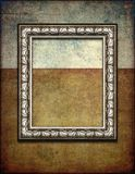 Donker Zilveren Grunge-Kader royalty-vrije stock foto's