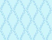 Donkerblauw Bloemen Naadloos Patroon van Bladeren op blauw Royalty-vrije Stock Fotografie
