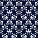 Donkerblauw damastpatroon Stock Afbeeldingen
