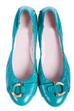 Donkerblauw een vrouwelijke kleding Stock Fotografie