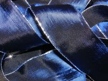 Donkerblauw lint Royalty-vrije Stock Afbeelding
