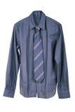 Donkerblauw man overhemd stock foto's