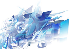 Donkerblauwe abstracte achtergrond Royalty-vrije Stock Foto's