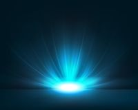 Donkerblauwe achtergrond met helder licht Stock Foto