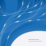 Donkerblauwe achtergrond met lijnen Royalty-vrije Stock Foto's