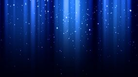 Donkerblauwe achtergrond met stralen van licht, fonkelingen, nacht sterrige hemel royalty-vrije illustratie