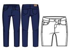 Donkerblauwe broek Stock Afbeelding