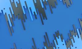 Donkerblauwe dalingen - 3d illustratie Royalty-vrije Stock Fotografie