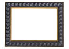 Donkerblauwe en gouden omlijsting - het knippen weg royalty-vrije stock afbeeldingen