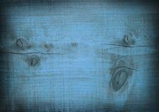 Donkerblauwe gekraste houten plank Houten Textuur Stock Foto's