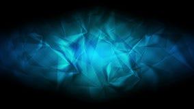 Donkerblauwe glanzende veelhoekige videoanimatie stock videobeelden