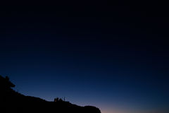 Donkerblauwe hemel Royalty-vrije Stock Foto