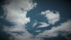 Donkerblauwe hemel Royalty-vrije Stock Afbeelding