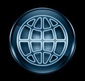 Donkerblauwe het pictogram van de bol. Royalty-vrije Stock Foto