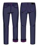 Donkerblauwe jeans Stock Fotografie