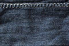 Donkerblauwe jeanstextuur Stock Fotografie