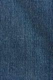 Donkerblauwe jeanstextuur Stock Afbeelding