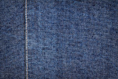 Donkerblauwe jeanstextuur Stock Foto's
