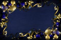 Donkerblauwe Kerstmis stock afbeeldingen