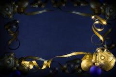 Donkerblauwe Kerstmis Stock Foto's