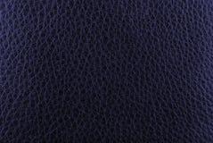 Donkerblauwe leertextuur Royalty-vrije Stock Afbeelding