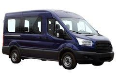 Donkerblauwe minibus Stock Afbeeldingen