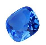 Donkerblauwe saffiergem op wit Royalty-vrije Stock Foto