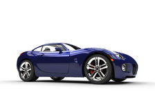 Donkerblauwe Snelle Modieuze Auto Stock Foto
