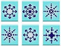 Donkerblauwe sterren Stock Afbeelding