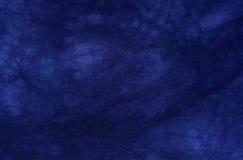 Donkerblauwe stoffentextuur Royalty-vrije Stock Foto's