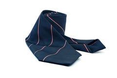 Donkerblauwe stropdas op witte achtergrond Royalty-vrije Stock Afbeeldingen