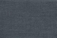 Donkerblauwe textielachtergrond met geruit patroon, close-up Structuur van de stoffenmacro Stock Foto's