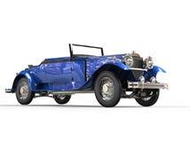 Donkerblauwe uitstekende convertibele auto Royalty-vrije Stock Foto's