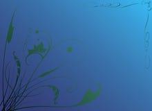 Donkerblauwe vegetatieve achtergrond Stock Afbeelding