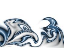 Donkerblauwe vlammen vector illustratie