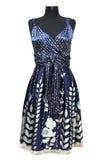 Donkerblauwe vrouwelijke kleding royalty-vrije stock afbeeldingen