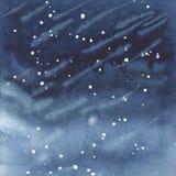 Donkerblauwe waterverfachtergrond Royalty-vrije Stock Foto