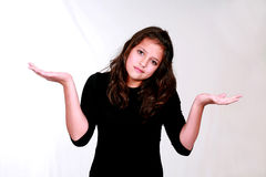 Donkerbruin Meisje Preteen Royalty-vrije Stock Foto's
