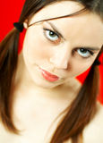 Donkerbruin modelportret Stock Fotografie